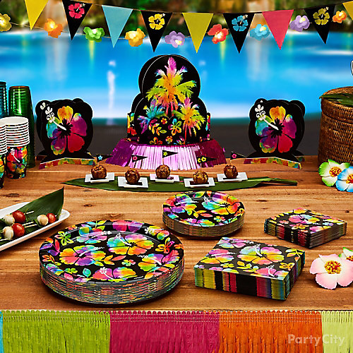Neon Paradise Food Table