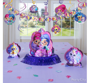 Shimmer and Shine Table Decorating Idea