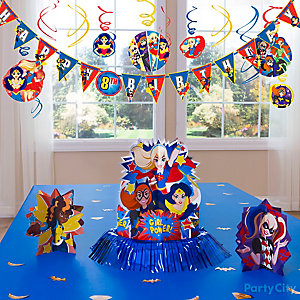 DC Super Hero Girls Table Decorating Idea