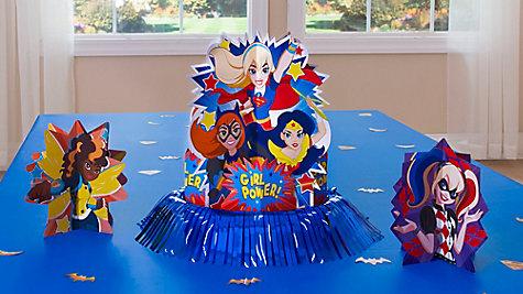 DC Super Hero Girls Table Decorating Idea