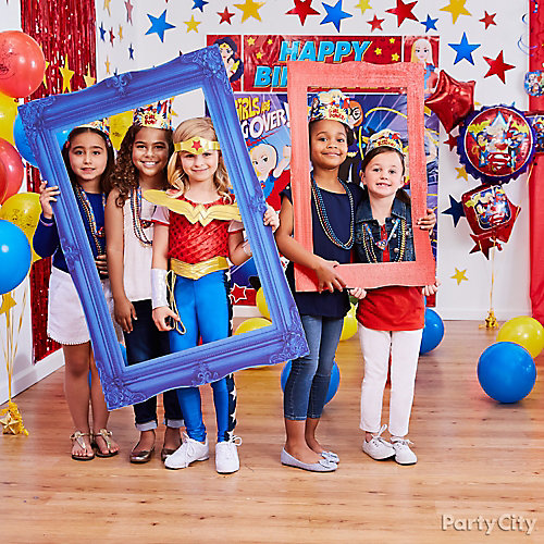 DC Super Hero Girls Photo Booth Activity Idea