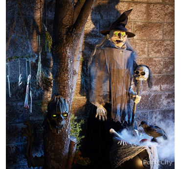 Animatronic Witch and Cauldron Idea