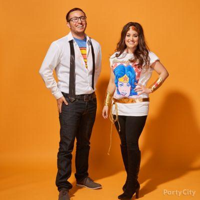 Wonder Woman and Clark Kent Couples Costume Idea