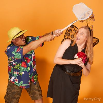 Bug Catcher and Butterfly Couples Costume Idea