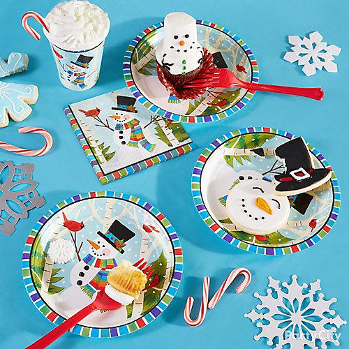 Snowman Plate Setting Idea