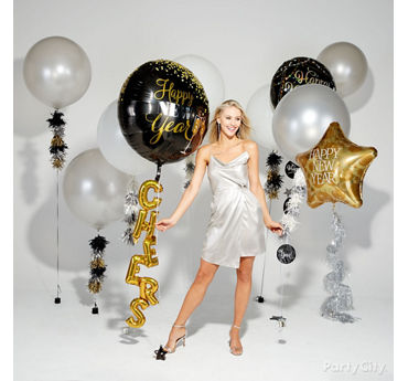 New Years Balloon Tails Idea