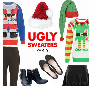 Ugly Sweater Party Outfit Idea