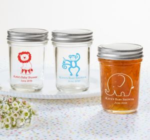 Baby Boy Personalized Baby Shower Mason Jars (Printed Glass)