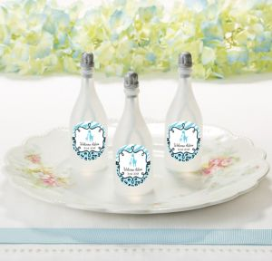 Blue Safari Personalized Baby Shower Bubbles (Printed Label)