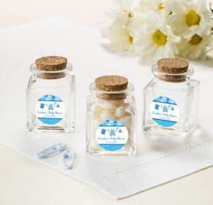Personalized Small Glass Bottles with Corks