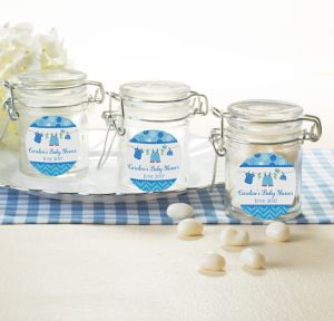 It's a Boy Personalized Baby Shower Small Glass Jars (Printed Label)