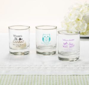 Woodland Personalized Baby Shower Shot Glasses (Printed Glass)