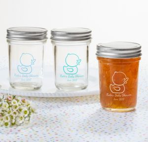 Bubble Bath Personalized Baby Shower Mason Jars (Printed Glass)