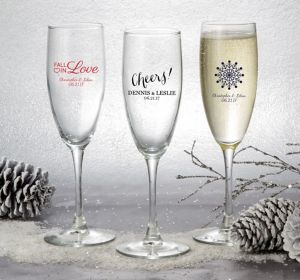 Personalized Champagne Flutes <br>(Printed Glass)