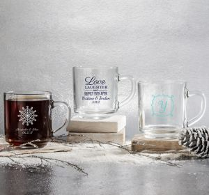 Personalized Glass Coffee Mugs <br>(Printed Glass)
