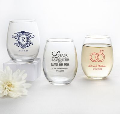 Personalized Stemless Wine Glasses 9oz Party City