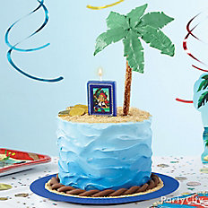 Jake's Island Party Cake