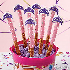 Sofia's Crown Candy-Dipped Pretzels