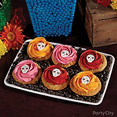 Day of the Dead Sugar Skull Rosette Cookies