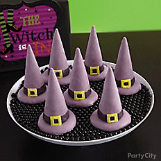 Witch's Crew Candy-Covered Cone Hats