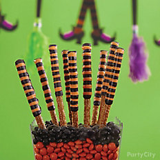 Witch's Crew Halloween Striped Pretzels