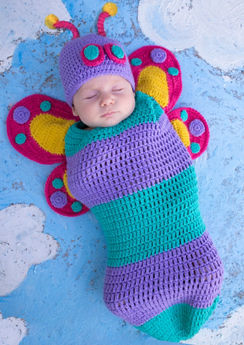 Baby Crochet Cocoon Butterfly Costume