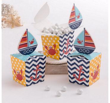 Ahoy Nautical Favor Boxes 8ct