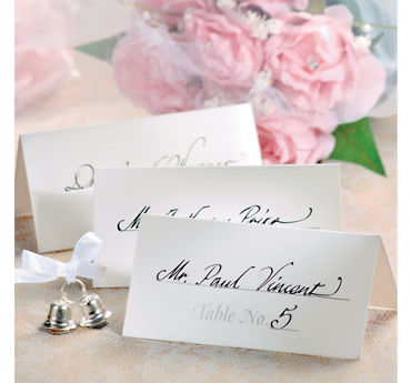 Silver Table Number Place Cards 50ct