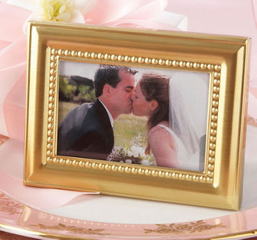 Gold Beaded Photo Frame Place Card Holder