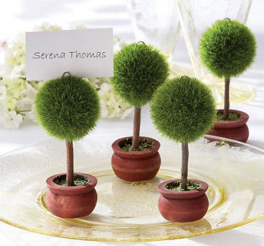 Topiary Place Card Holder Favor