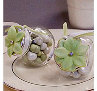 Leaf Green Rhinestone Flower Wedding Favor Accessory