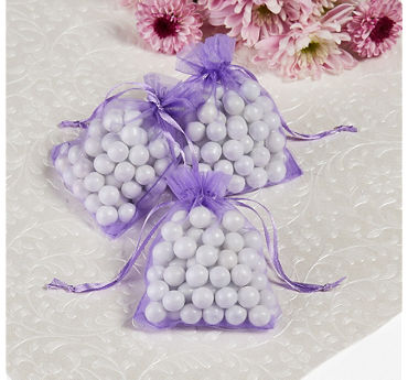 Lavender Organza Wedding Favor Bags