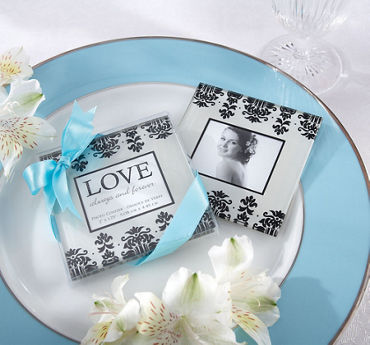 Love Always & Forever Photo Glass Coasters