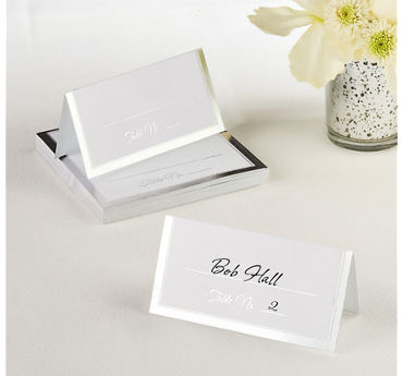Silver Border Place Cards 50ct