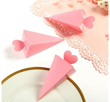 Pink Cone Favor Boxes