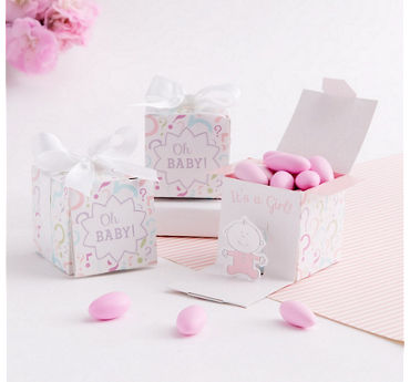Baby Girl Gender Reveal Favor Boxes 24ct
