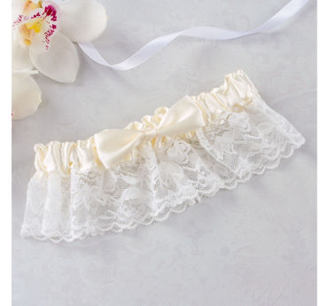 Ivory Wedding Garter