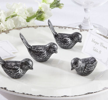 Silver Bird Place Card Holders