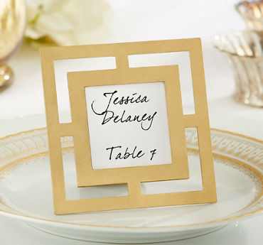 Gold Openwork Photo Frame Place Card Holder
