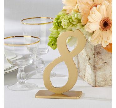 Gold Table Numbers 7-12