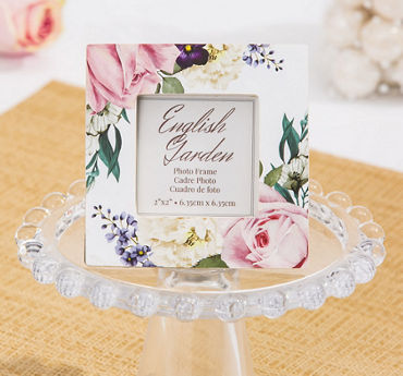 English Garden Floral Photo Frame Place Card Holder