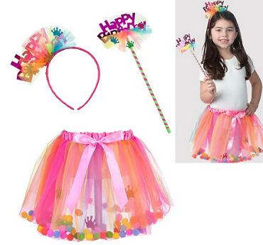 Child Bright Birthday Accessory Kit 3pc