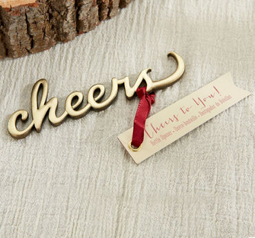 Gold Cheers Bottle Opener