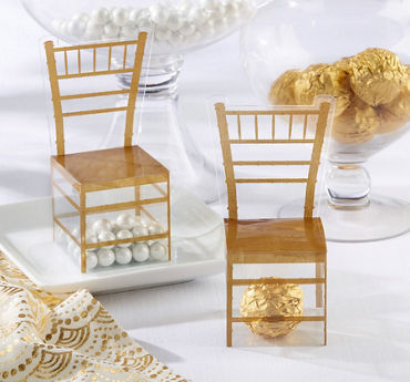 Gold Chair Favor Boxes