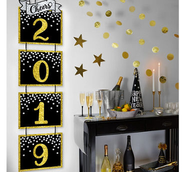 Black And Gold Birthday Party Decorations