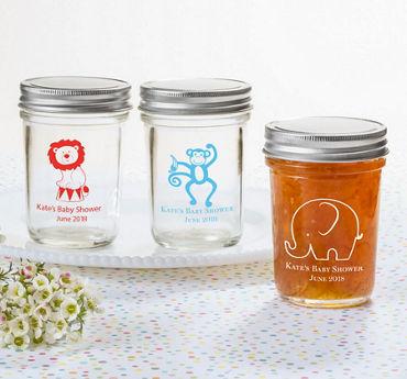 Baby Boy Personalized Baby Shower Mason Jars (Printed Glass)