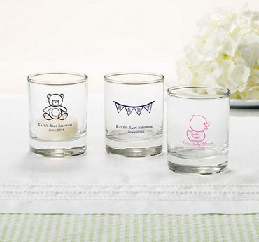 Gender Neutral Personalized Baby Shower Shot Glasses (Printed Glass)