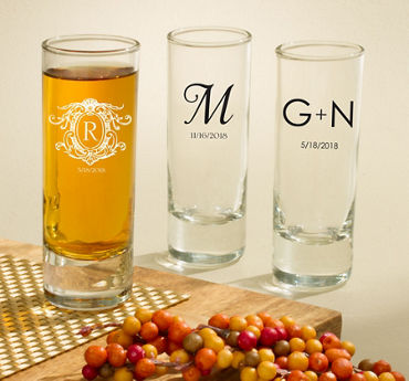 Personalized Tall Shot Glasses (Printed Glass)