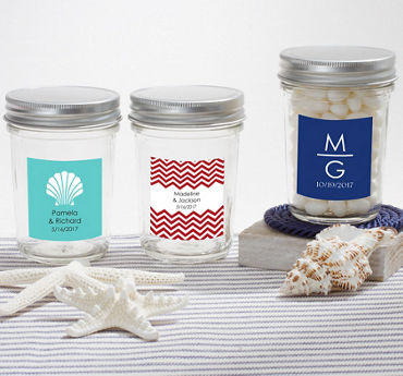 Personalized Mason Jar with Solid Lid (Printed Label)
