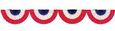 Crepe Paper American Flag Bunting Garland